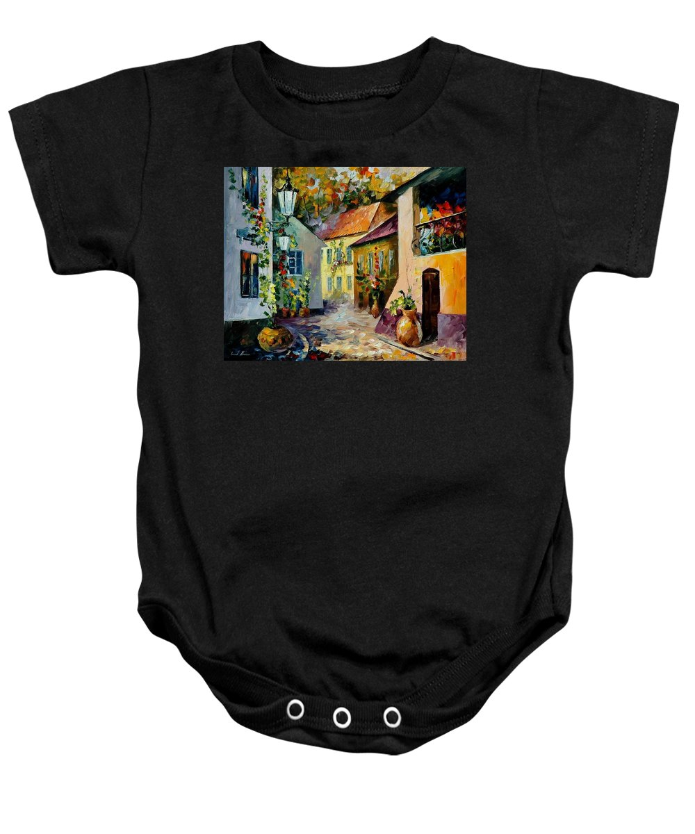 Landscape Baby Onesie featuring the painting Hot Noon Original Oil Painting by Leonid Afremov