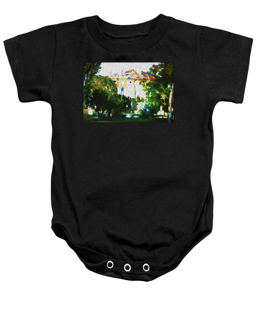 House Baby Onesie featuring the painting Hottest Day by Lali Kacharava