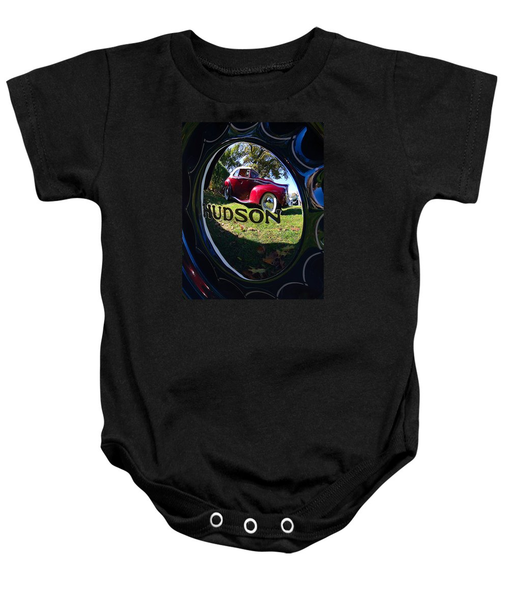 Hudson Baby Onesie featuring the photograph Hudson Reflections by Kevin Myron