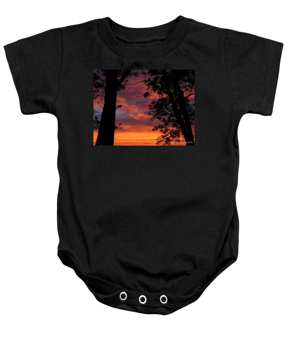 Sunset Baby Onesie featuring the photograph Hues Of Orange by Lisa Phillips