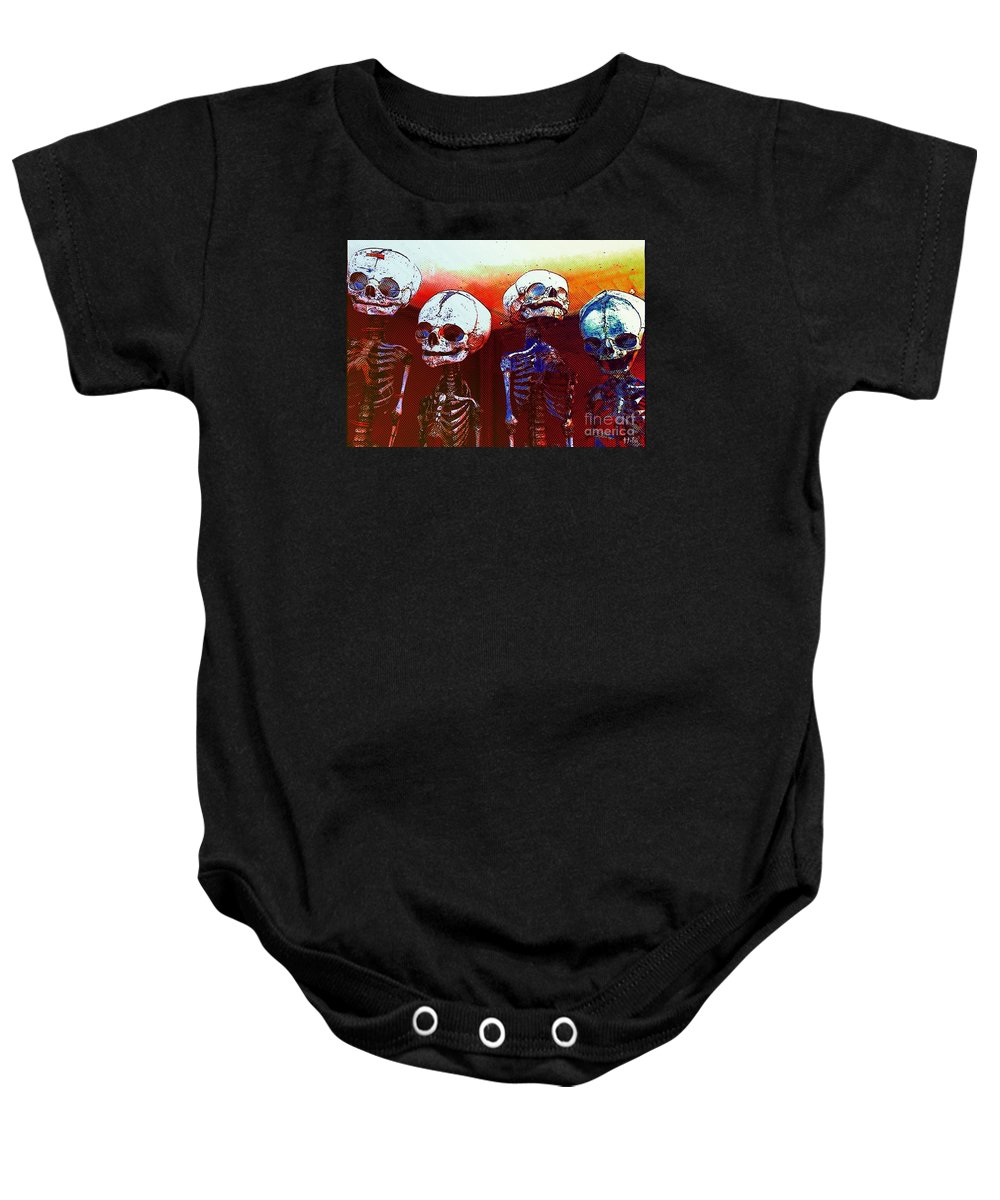 Skeleton Baby Onesie featuring the photograph Humans by Helge