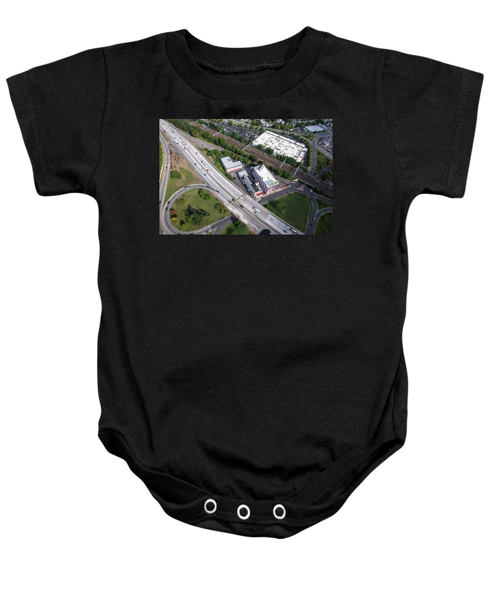 New Rochelle Baby Onesie featuring the photograph I-95 New Rochelle by Louis Vaccaro