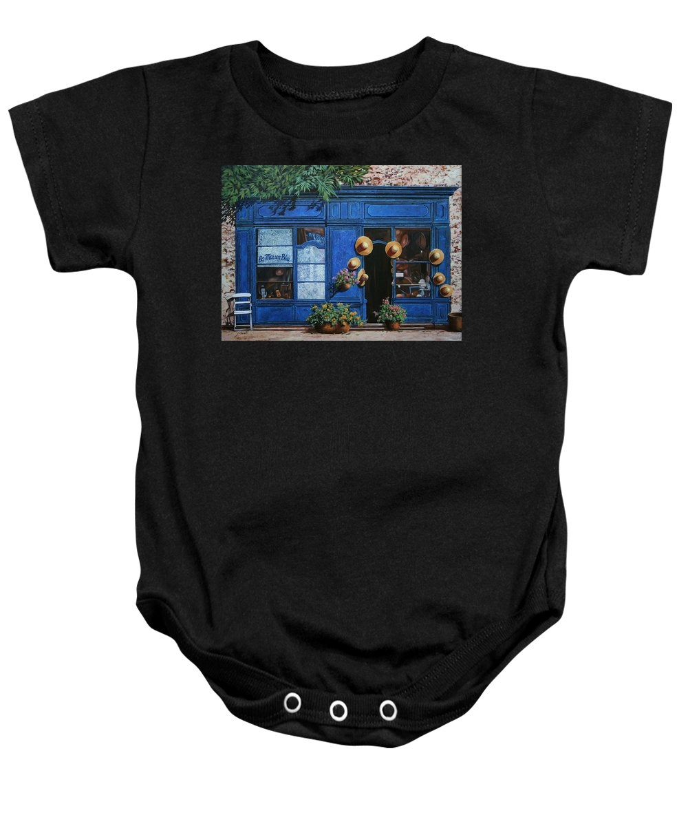 Shop Baby Onesie featuring the painting I Cappelli Gialli by Guido Borelli