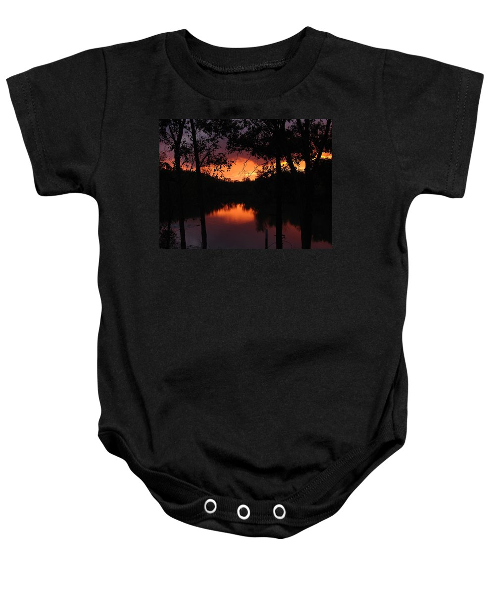 Sunset Baby Onesie featuring the photograph I Found Red October by J R Seymour