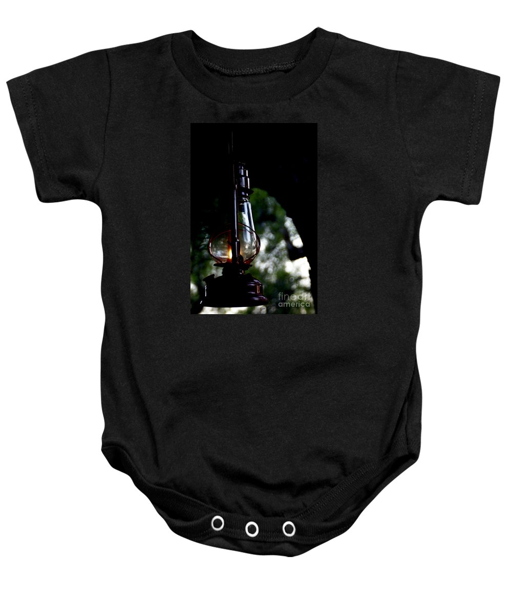 Lantern Baby Onesie featuring the photograph I Will Guide You by Linda Shafer