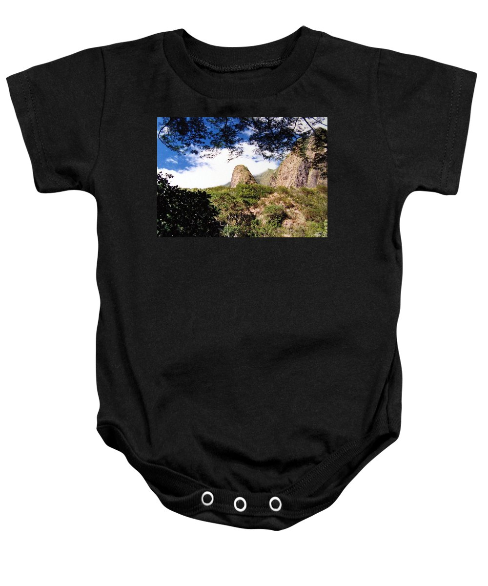 1986 Baby Onesie featuring the photograph Iao Valley by Will Borden