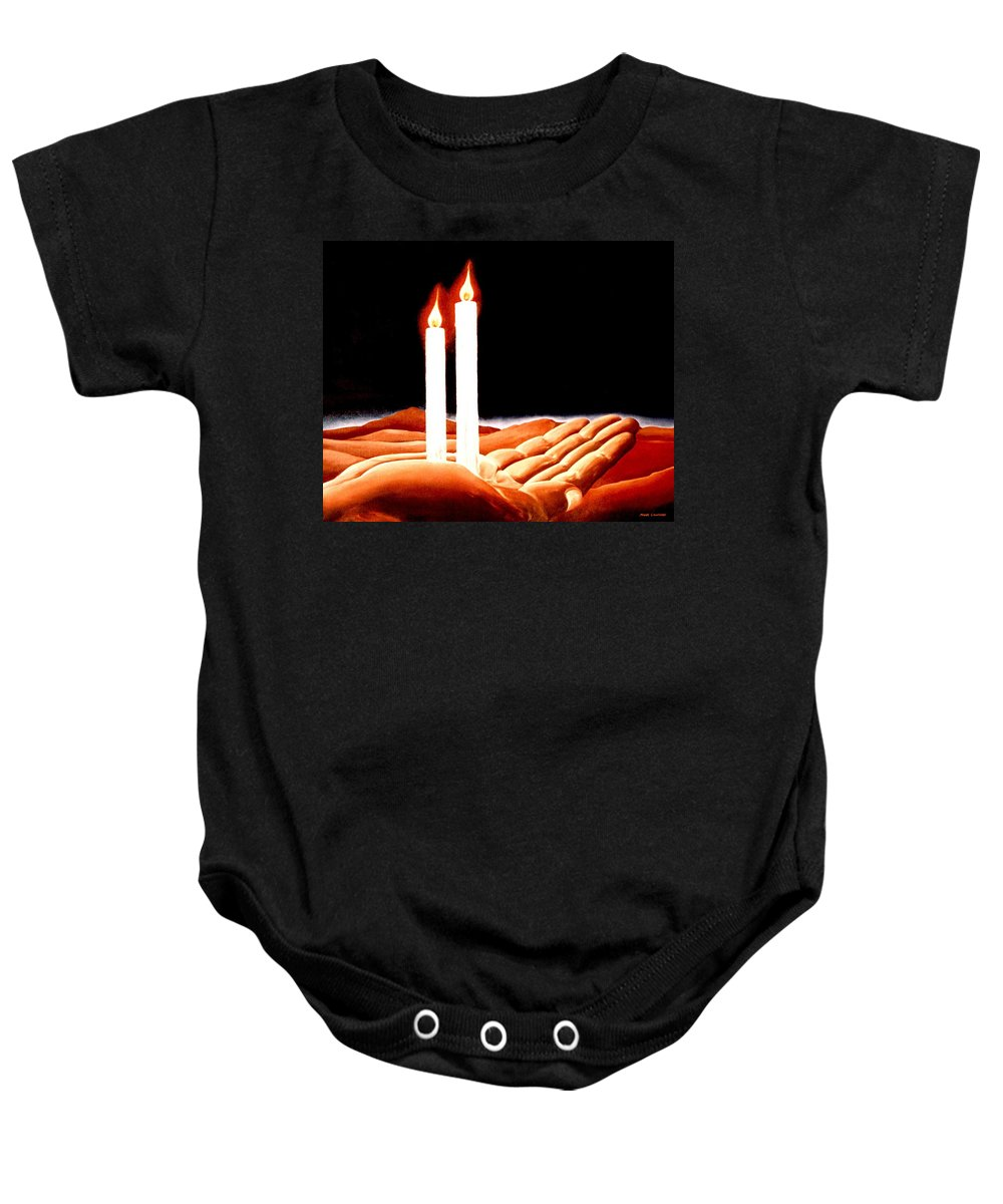 Surreal Baby Onesie featuring the painting Iconoclastic Tears by Mark Cawood