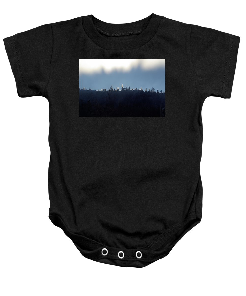 Ice Baby Onesie featuring the photograph Icy Sunrise by Cindy Johnston