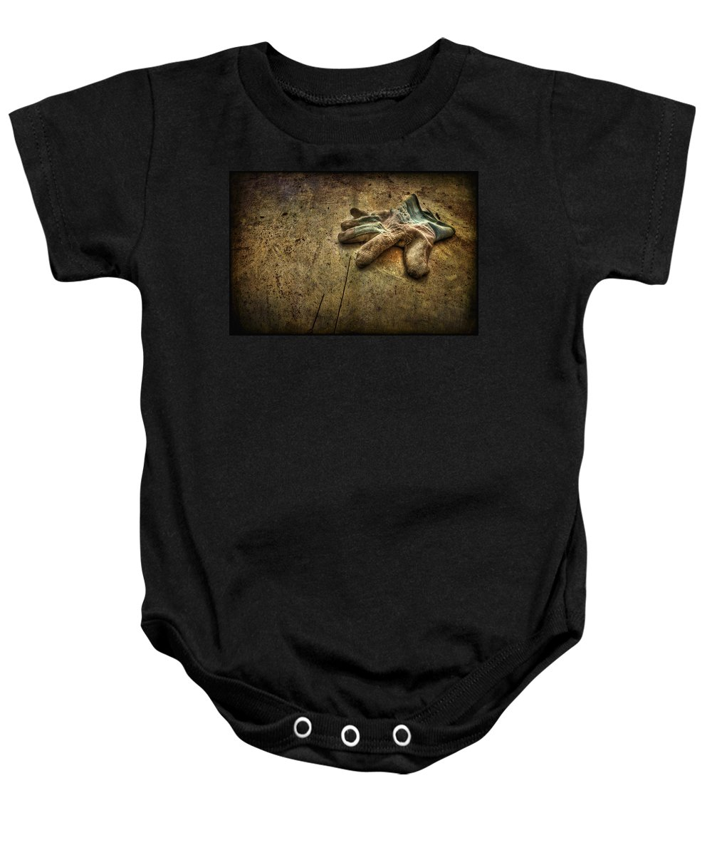 Glove Baby Onesie featuring the photograph If The Glove Doesn't Fit........ by Evelina Kremsdorf