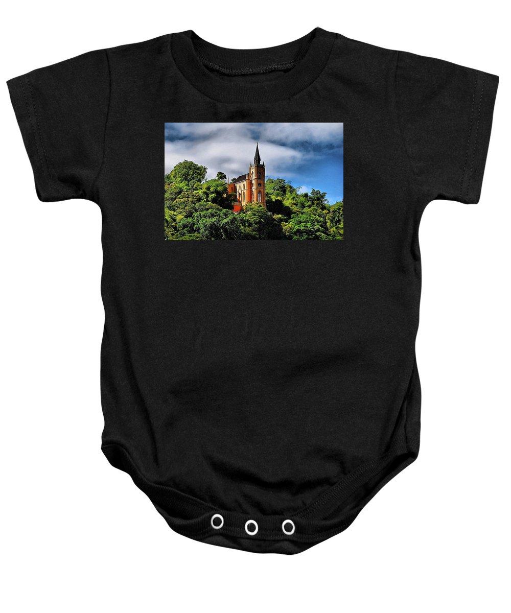 Church Baby Onesie featuring the photograph Iglesia Del Calvario by Galeria Trompiz