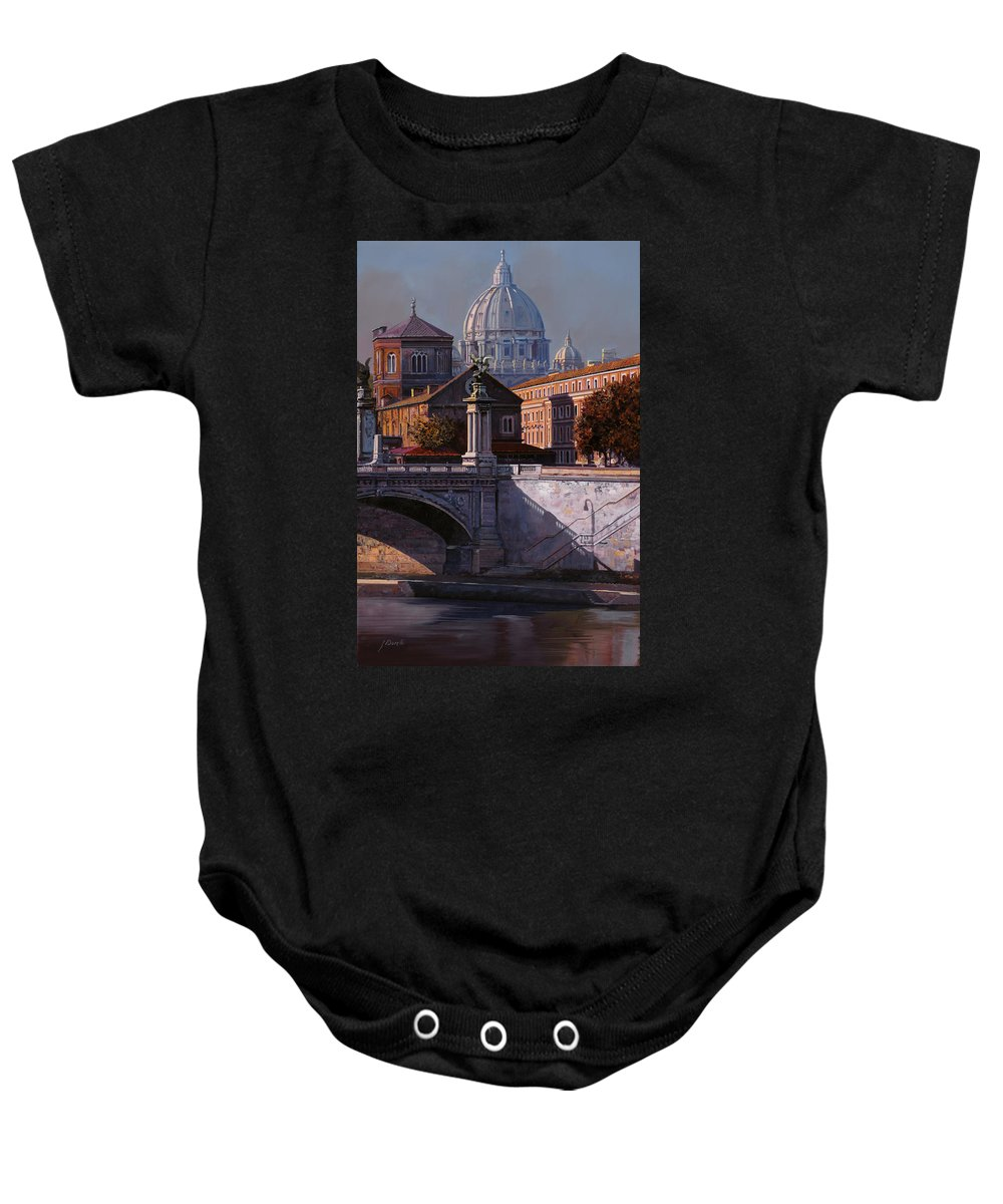 Rome Baby Onesie featuring the painting Il Cupolone by Guido Borelli