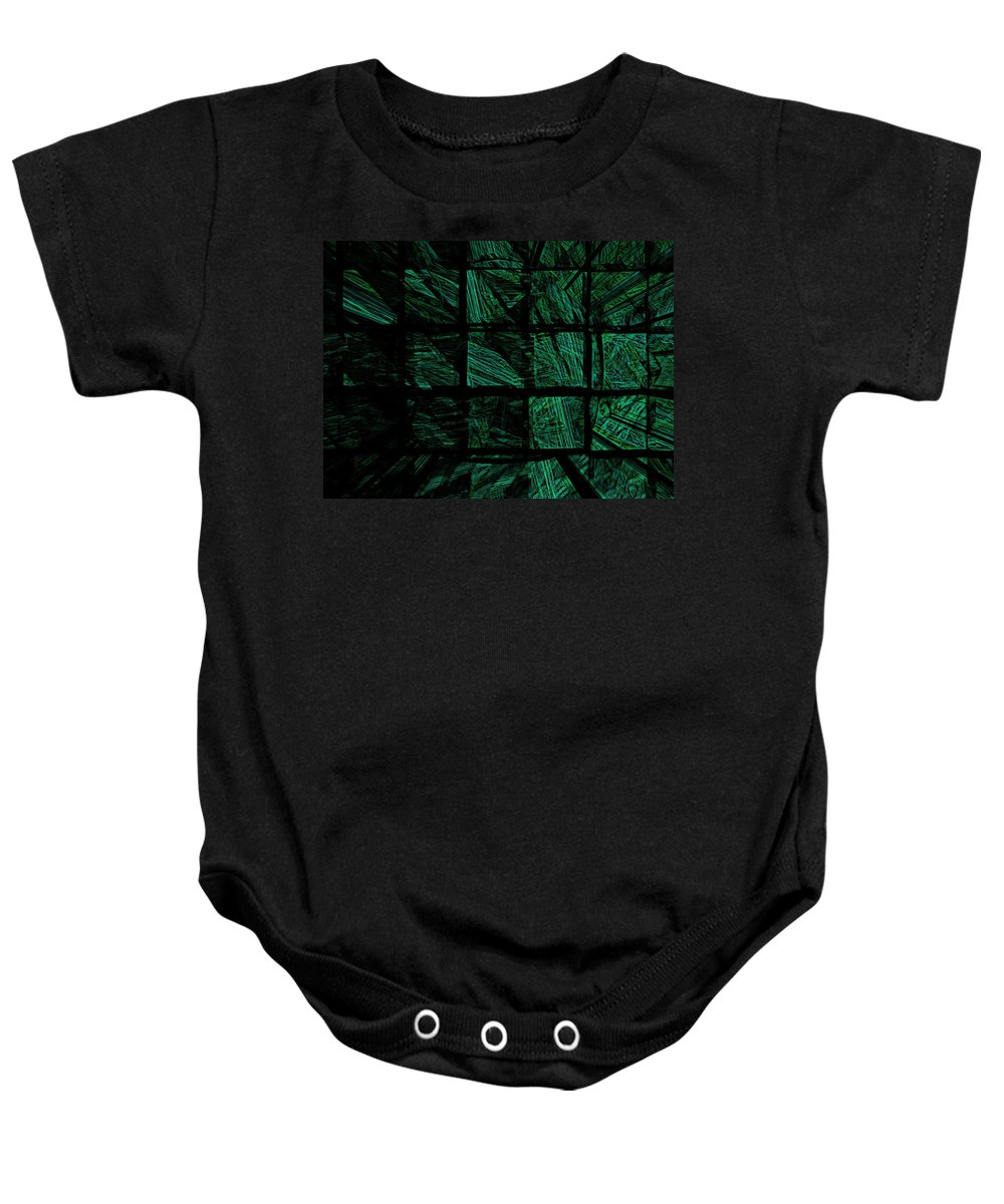 Abstract Digital Painting Baby Onesie featuring the digital art Illusion 2 by David Lane