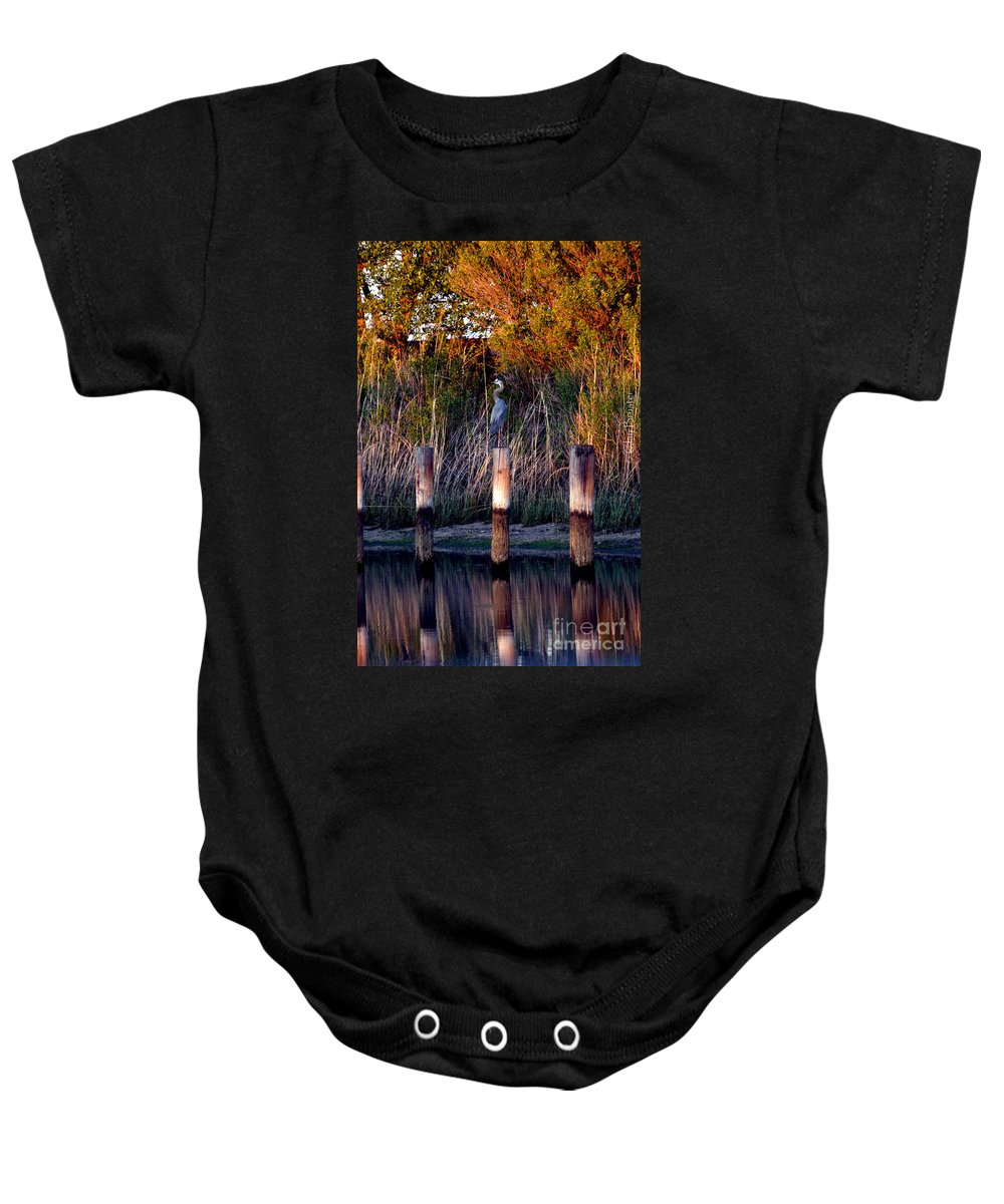 Clay Baby Onesie featuring the photograph Illusion by Clayton Bruster