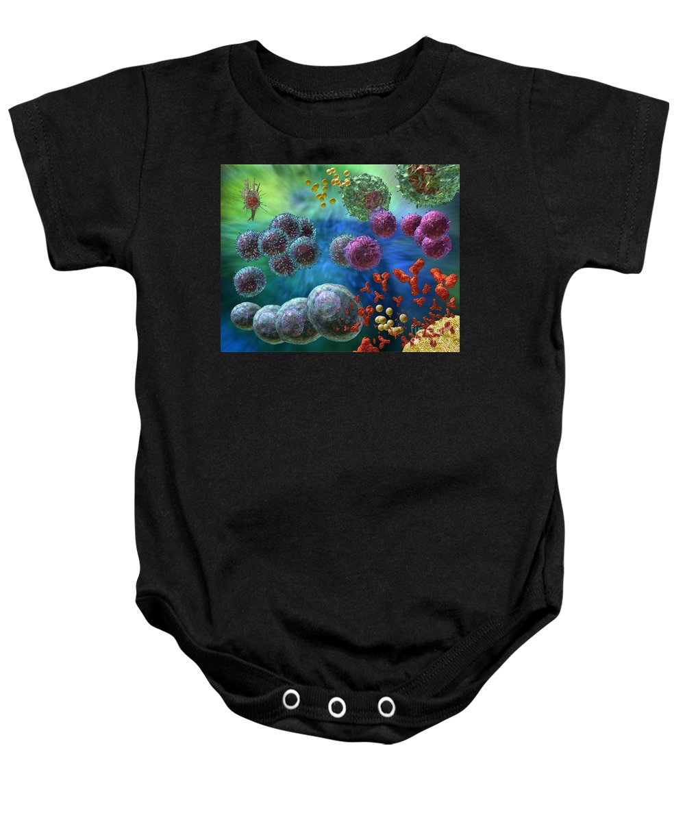 Antibodies Baby Onesie featuring the photograph Immune Response Antibody 4 by Russell Kightley