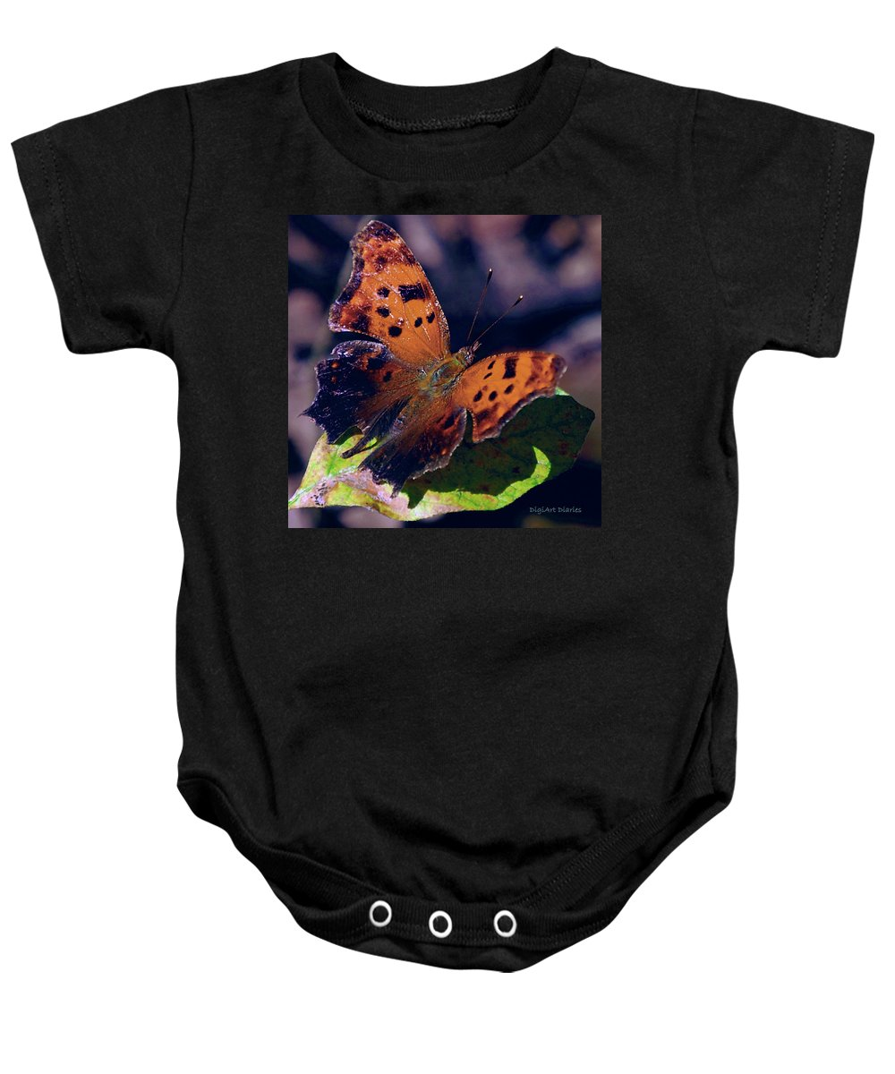 Butterfly Baby Onesie featuring the digital art Imperfect Satyr Comma by DigiArt Diaries by Vicky B Fuller