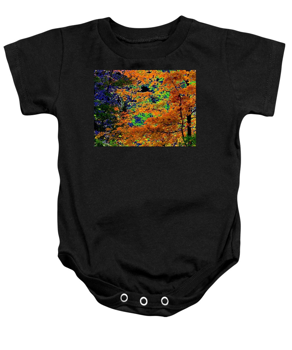 Impressions Baby Onesie featuring the digital art Impressions 3 by Will Borden