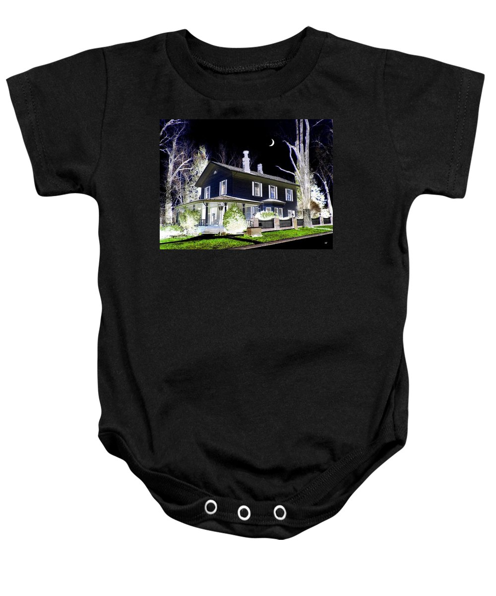 Impressions Baby Onesie featuring the digital art Impressions 5 by Will Borden
