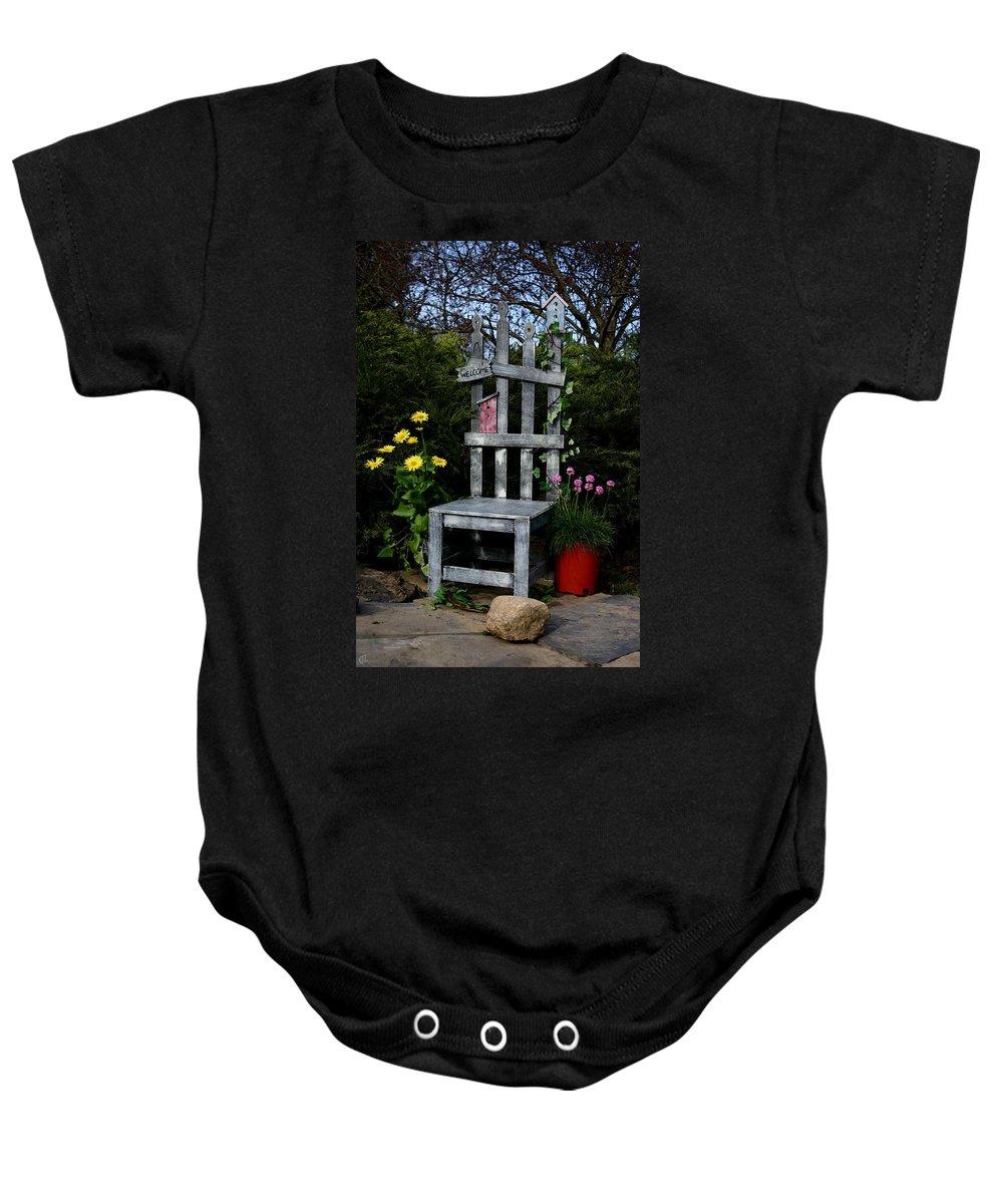 Garden Baby Onesie featuring the photograph In My Garden by Karol Livote
