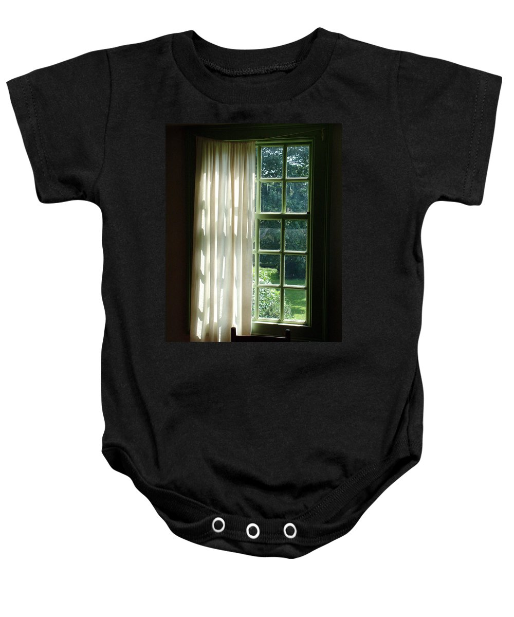 Window Baby Onesie featuring the photograph In The Quiet Of The Afternoon by RC DeWinter