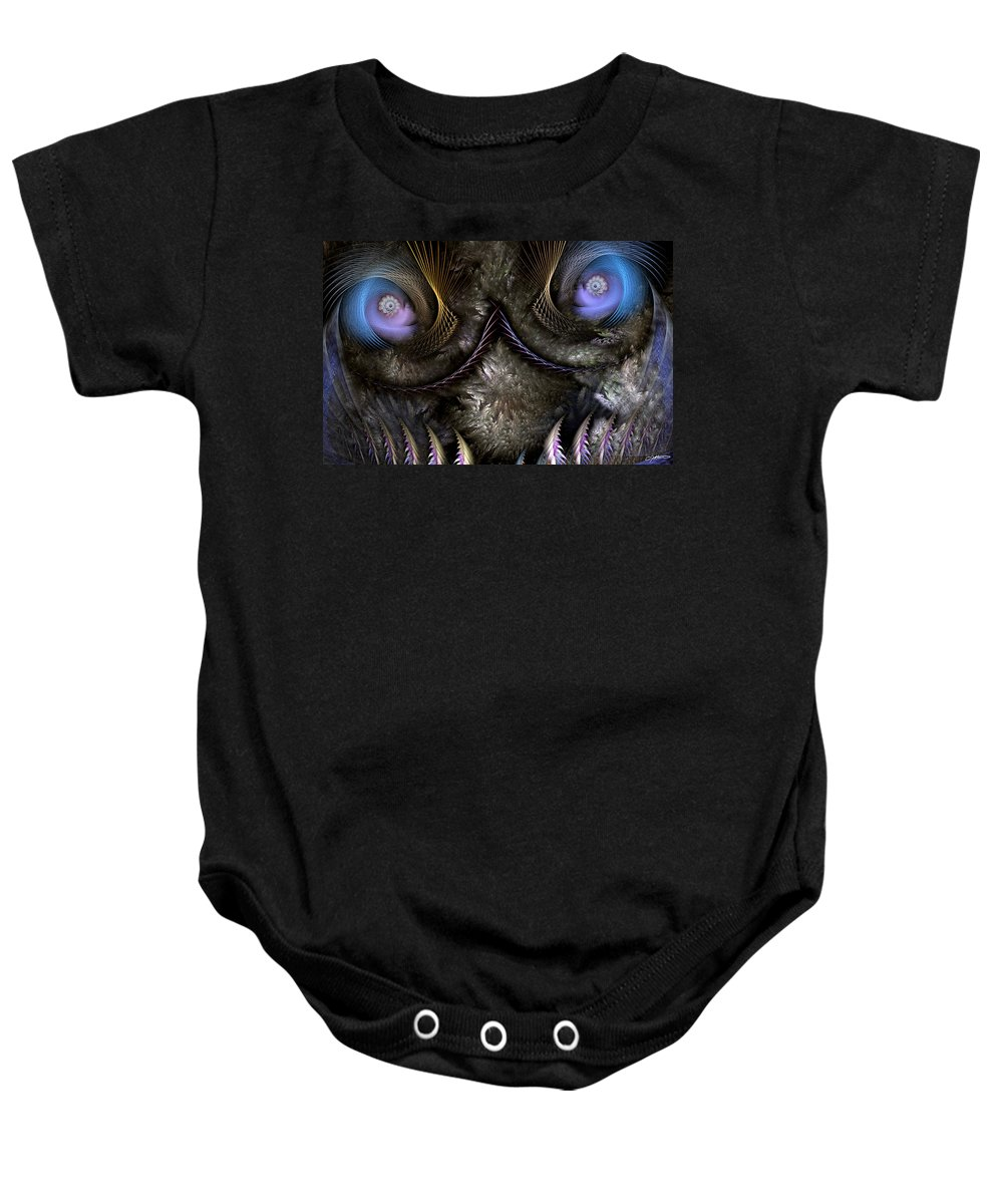 Abstract Baby Onesie featuring the digital art Incubus by Casey Kotas