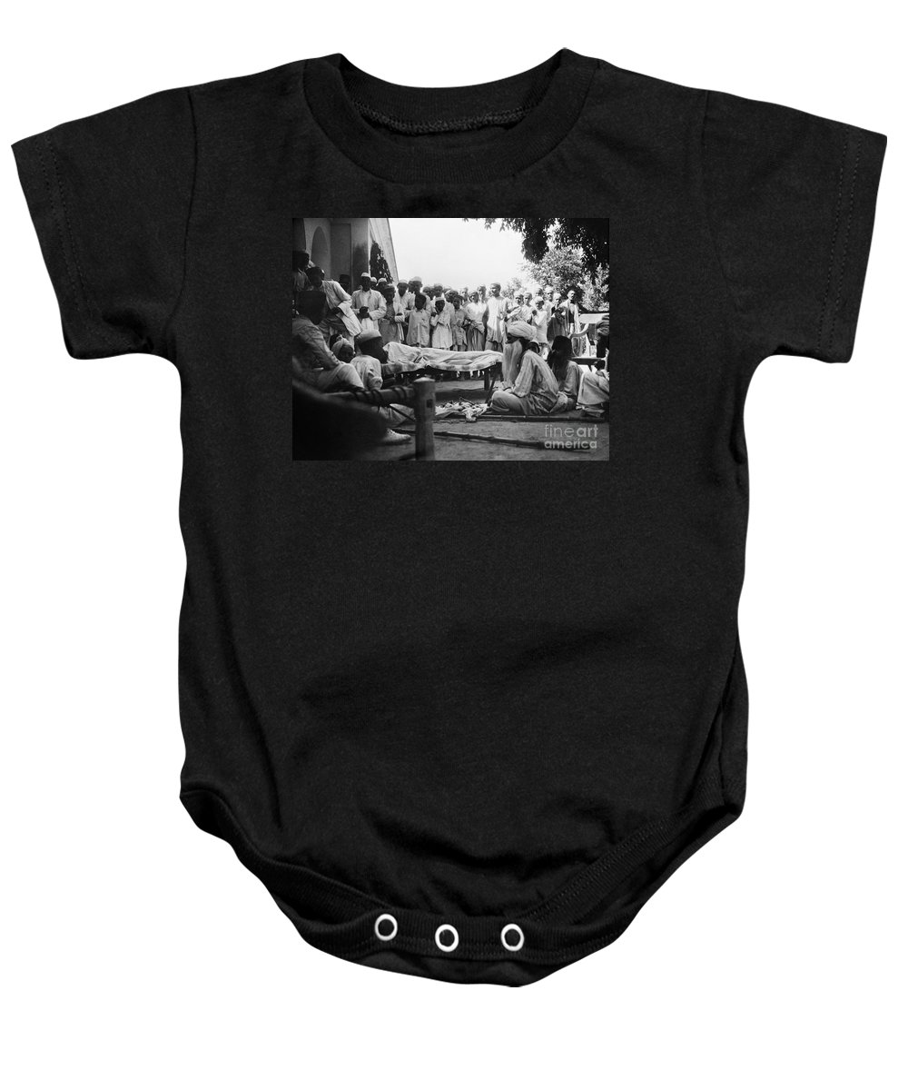 1929 Baby Onesie featuring the photograph India: Malaria Play, C1929 by Granger