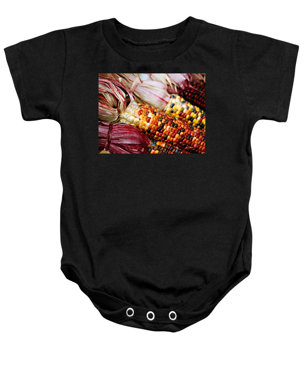 Corn Baby Onesie featuring the photograph Indian Corn by Marilyn Hunt