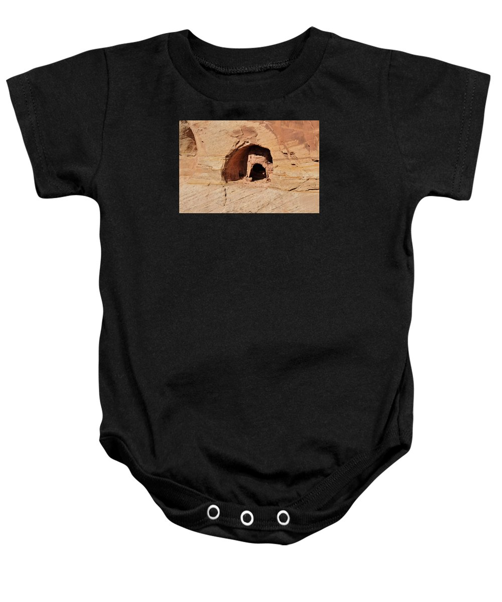 Canyon De Chelly Baby Onesie featuring the photograph Indian Dwelling Canyon De Chelly by David Arment
