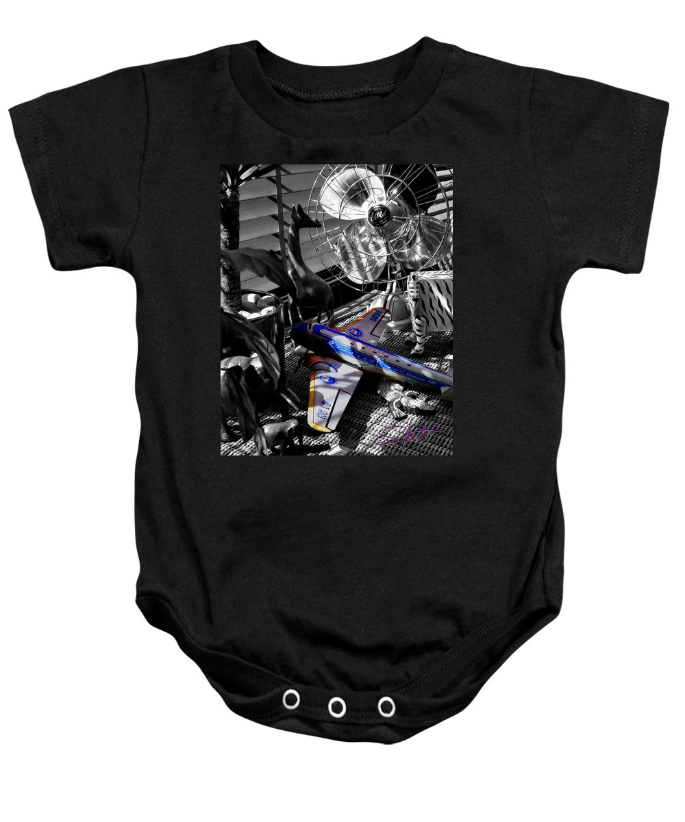 Fan Baby Onesie featuring the photograph Indiana Jones And The Jungle Dream by Charles Stuart