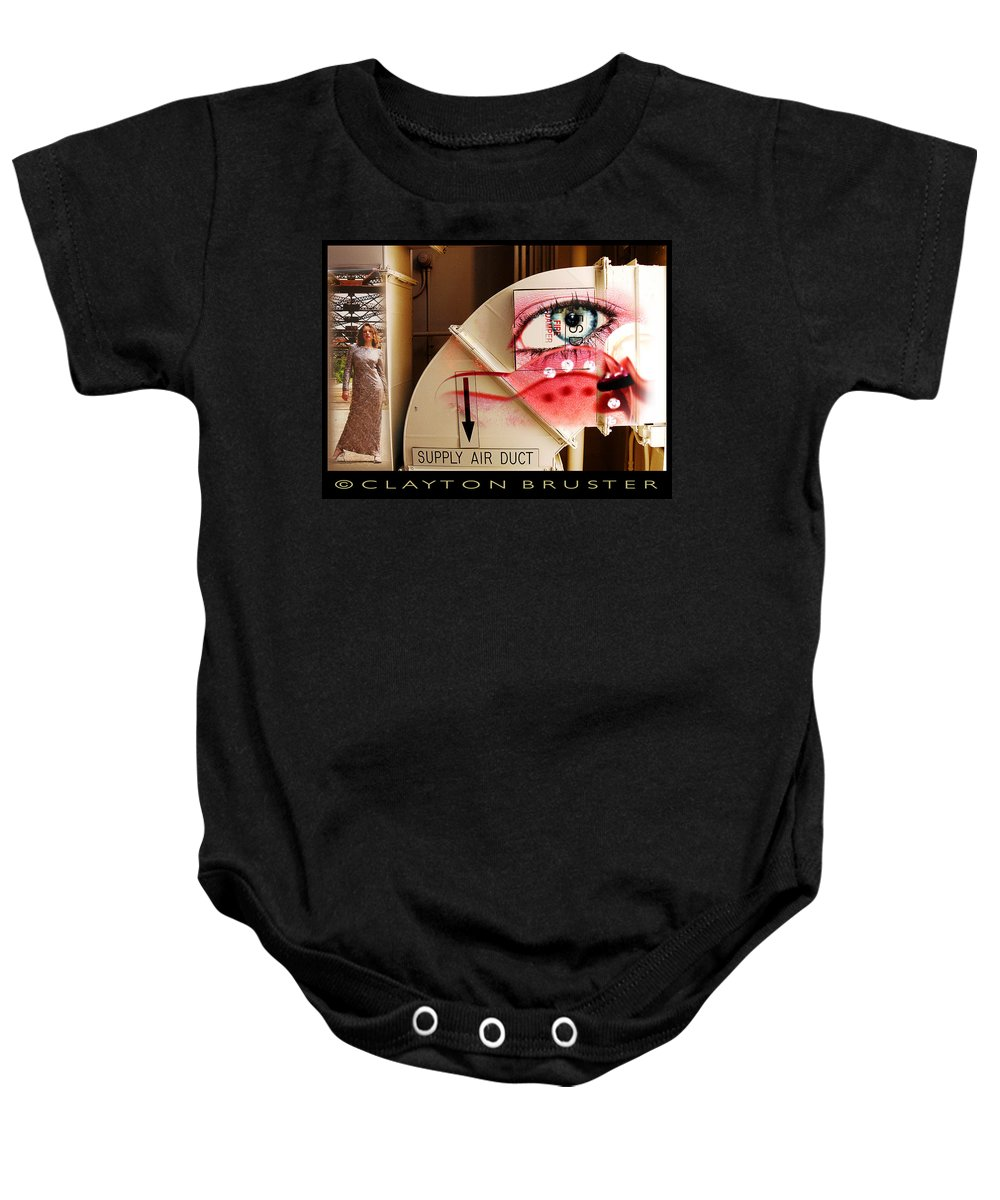 Baby Onesie featuring the photograph Industrial Ceiling Dreams by Clayton Bruster