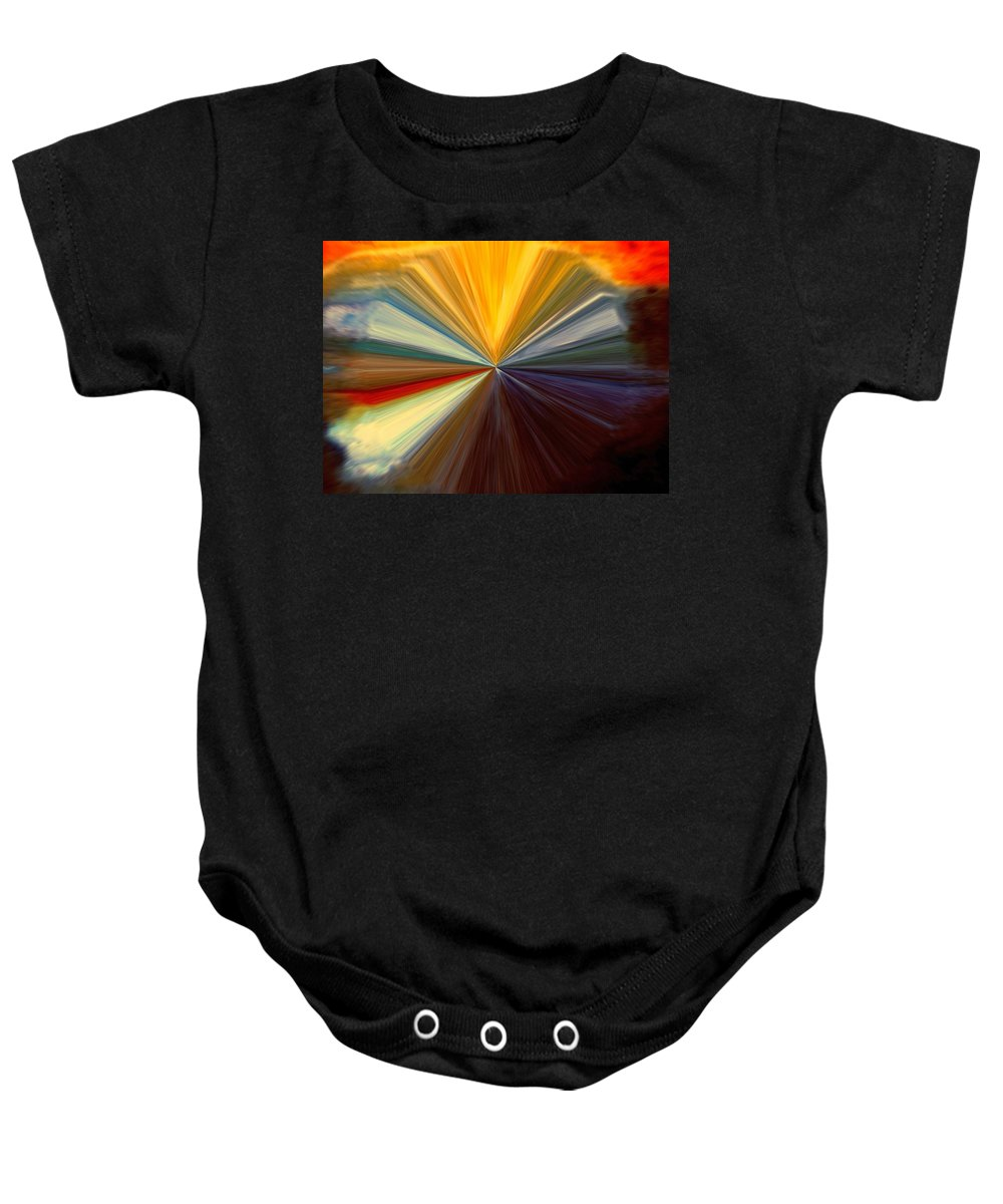 Abstract Baby Onesie featuring the digital art Infinity by Melvin Moon
