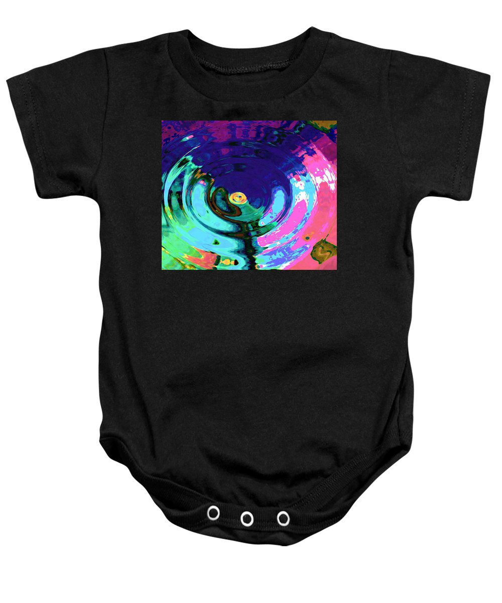 Blue Baby Onesie featuring the digital art Infinity by Natalie Holland
