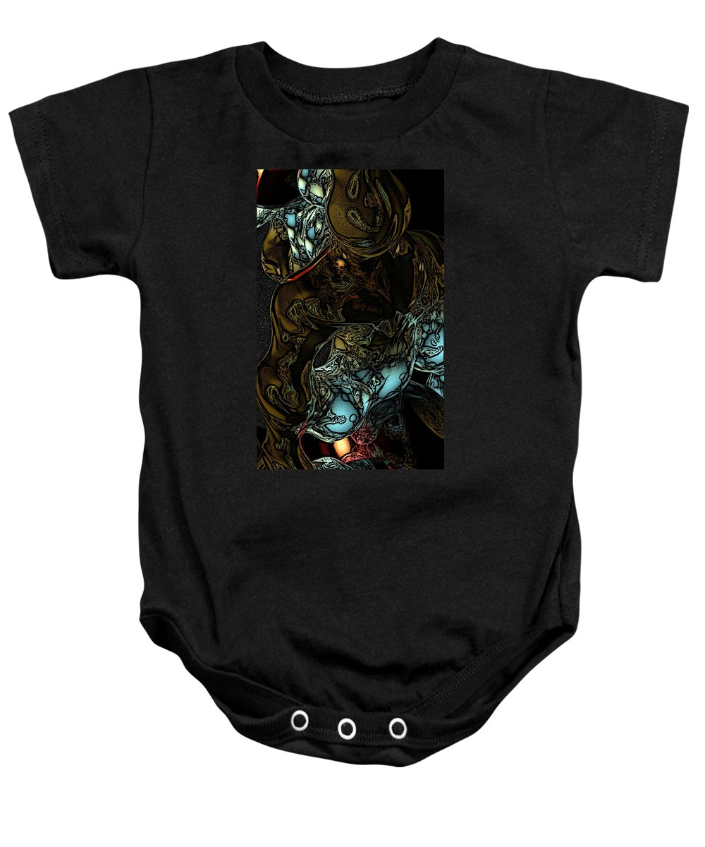 Abstract Baby Onesie featuring the digital art Inner Being by David Lane