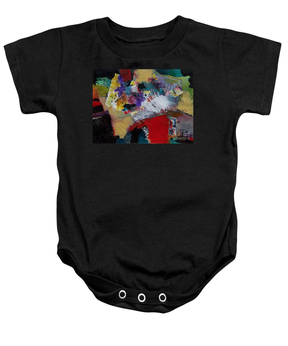 Mixed Media Painting Baby Onesie featuring the painting Inner Spirit by Donna Frost