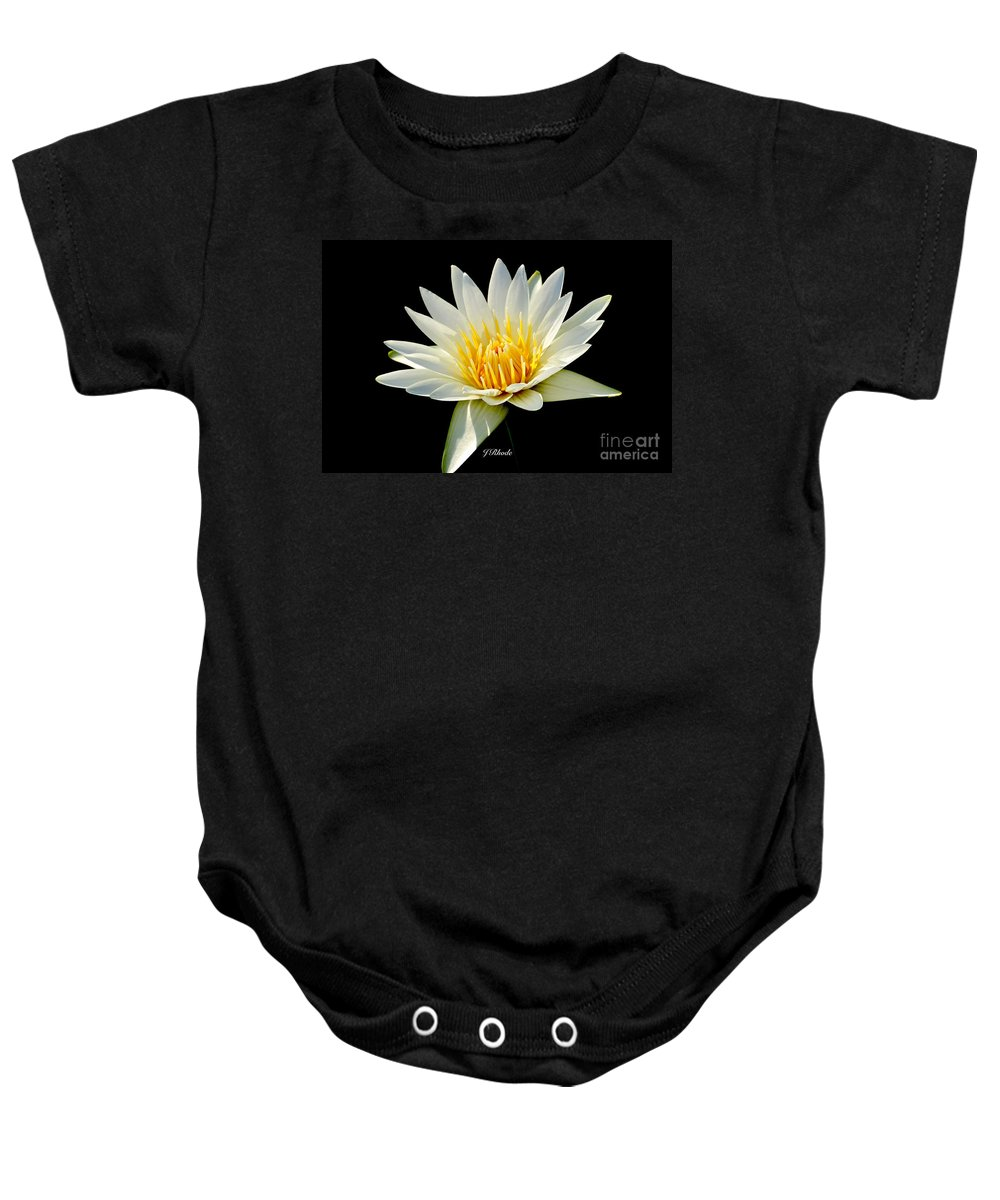 Tropical Day-flowering Water Lily Baby Onesie featuring the photograph Innocence by Jeannie Rhode