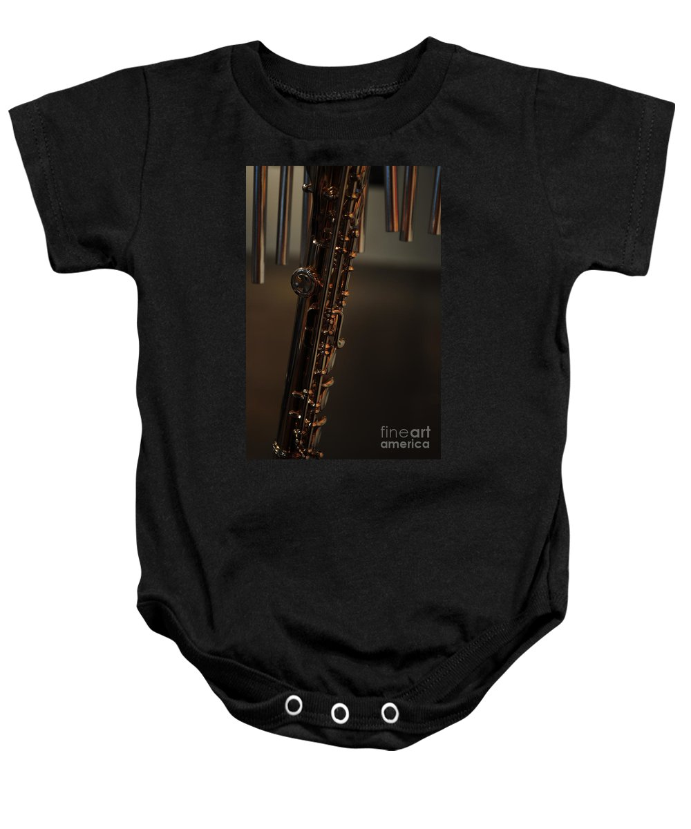 Music Baby Onesie featuring the photograph Instrument Of Piece by Paulette B Wright