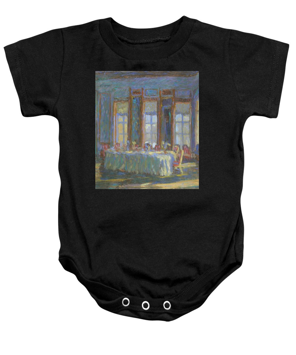 Moscow Baby Onesie featuring the painting Interior by Robert Nizamov