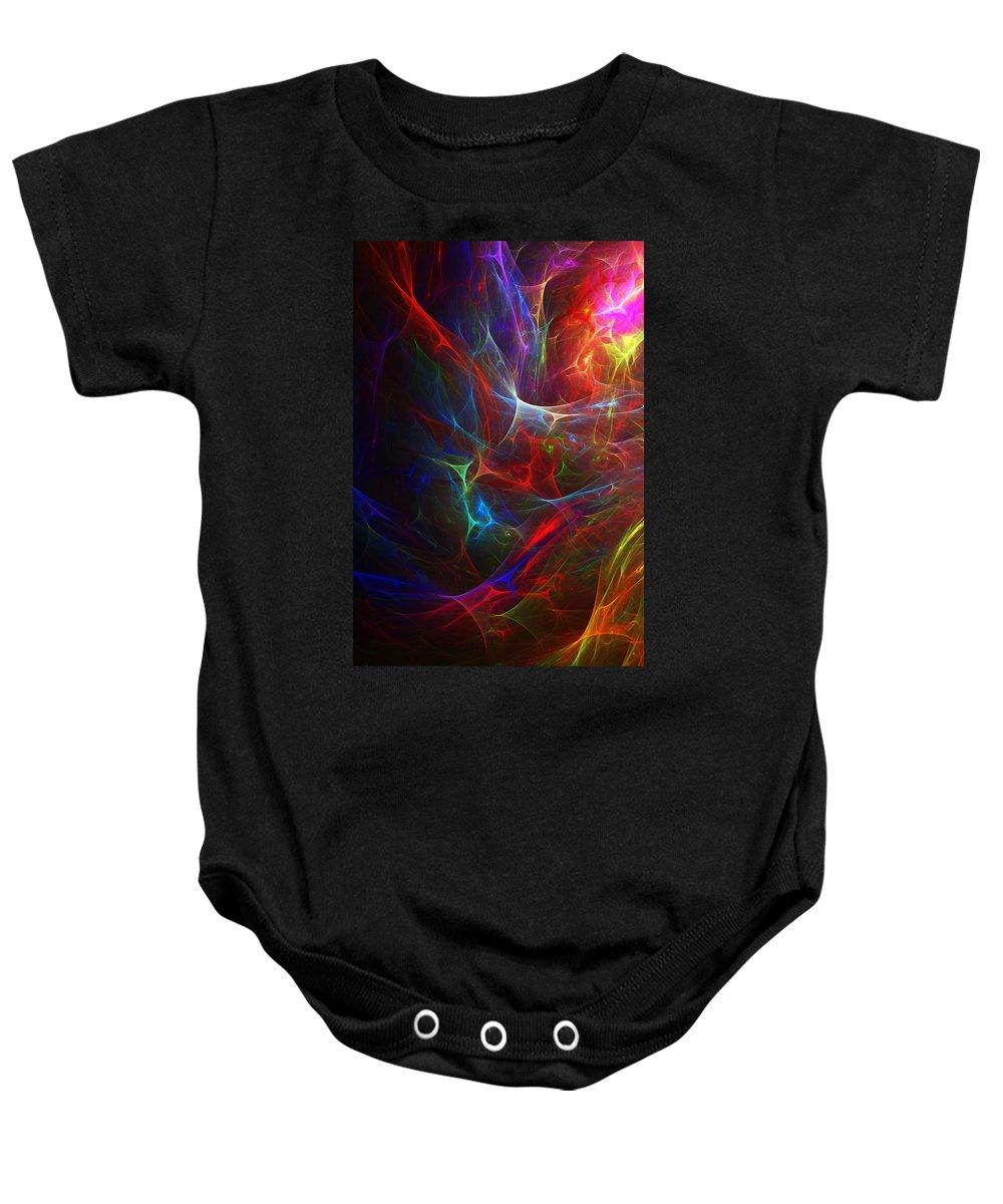Fine Art Baby Onesie featuring the digital art Internal Demons by David Lane