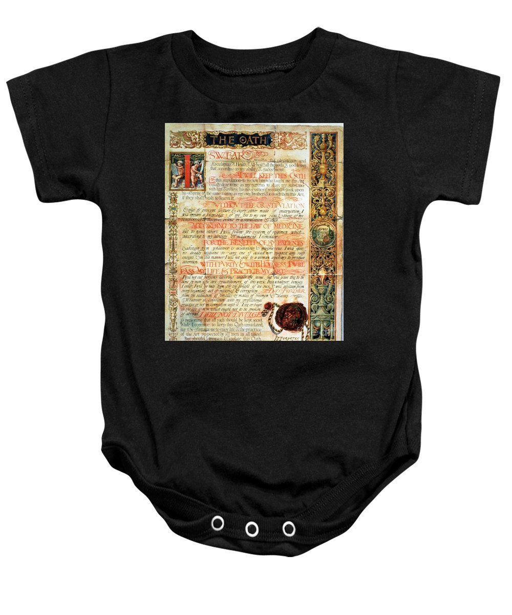 Science Baby Onesie featuring the photograph International Code Of Medical Ethics by Science Source