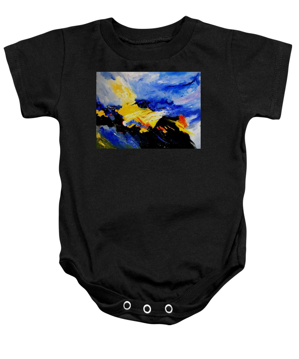 Abstract Baby Onesie featuring the painting Interstellar Overdrive 2 by Pol Ledent