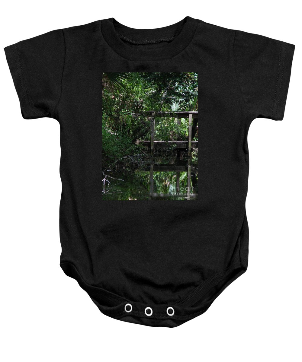 Woods Baby Onesie featuring the photograph Into Green by Greg Patzer