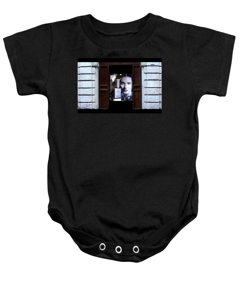 Dream Baby Onesie featuring the painting Into The Doorway by Charles Stuart