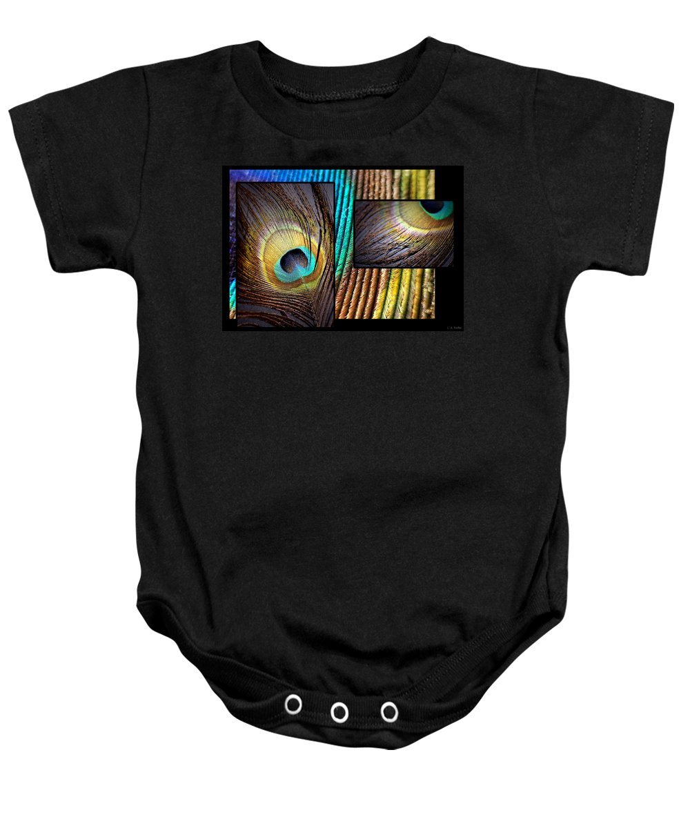 Lauren Radke Baby Onesie featuring the photograph Iridescent Beauty by Lauren Radke