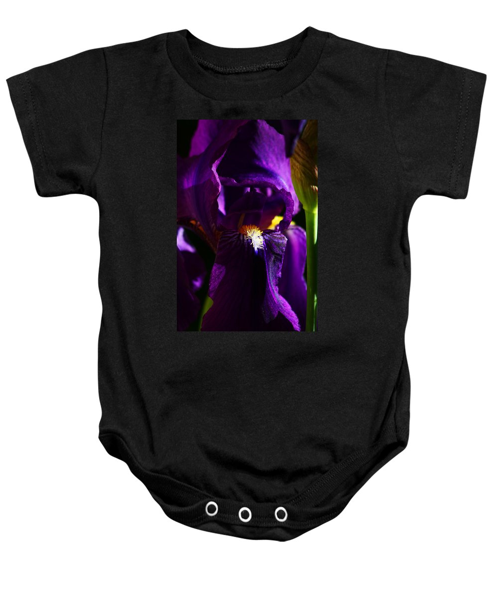 Flower Baby Onesie featuring the photograph Iris by Anthony Jones