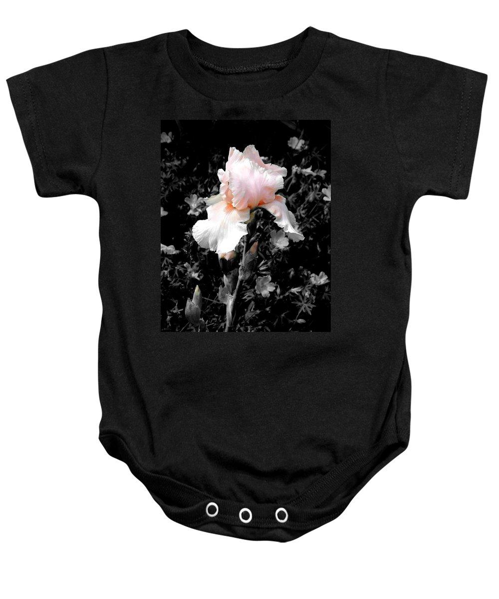 Flower Baby Onesie featuring the photograph Iris Emergance by Steve Karol