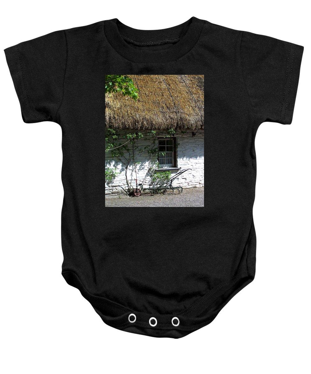 Irish Baby Onesie featuring the photograph Irish Farm Cottage Window County Cork Ireland by Teresa Mucha