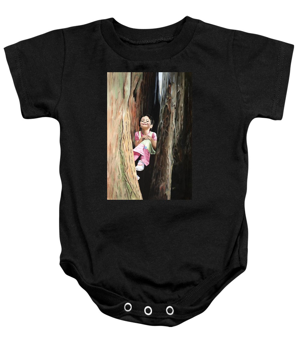 Girl Baby Onesie featuring the painting Isabella Of Kilkenny by Mary Rogers