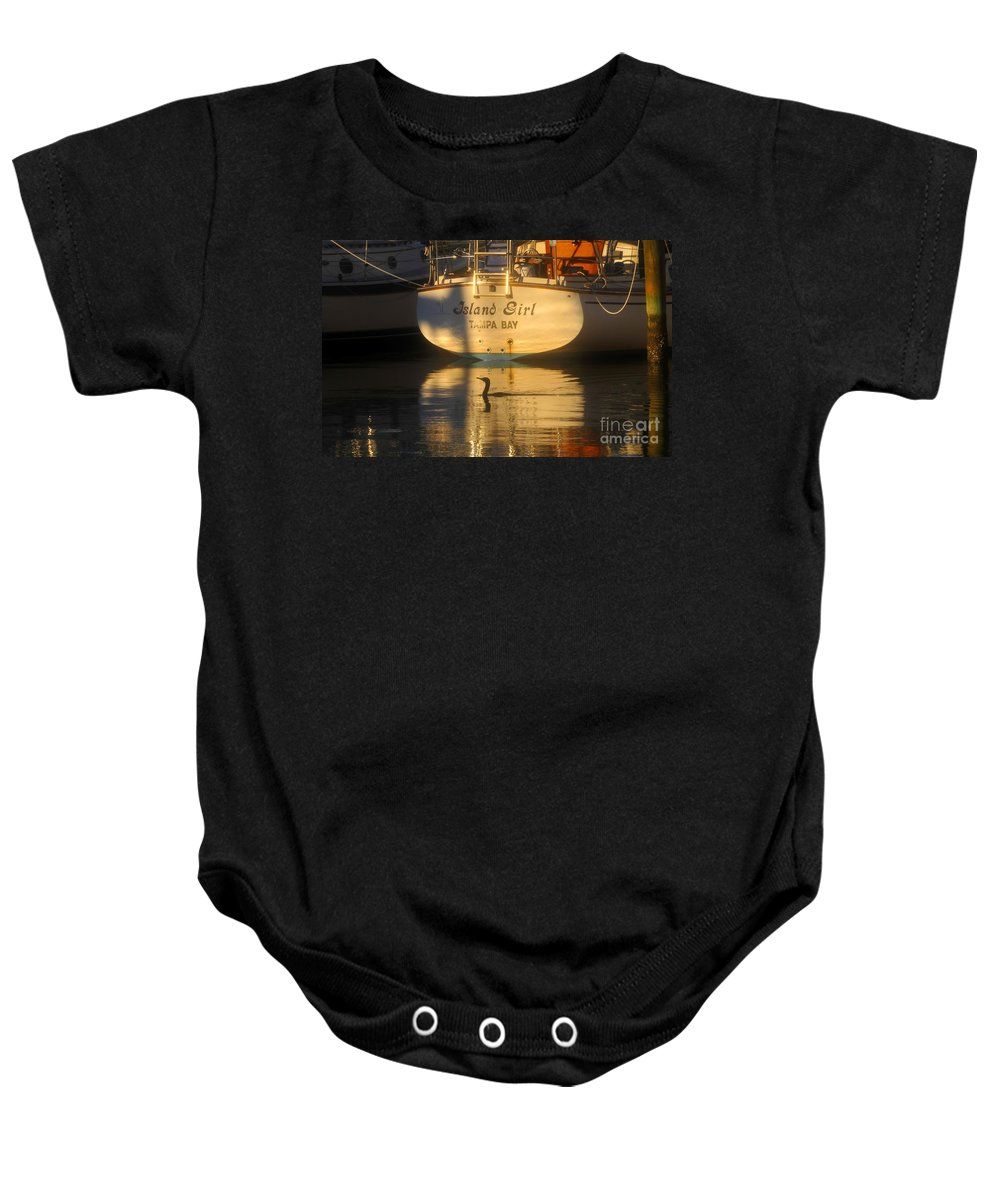 Sailing Boat Baby Onesie featuring the photograph Island Girl by David Lee Thompson