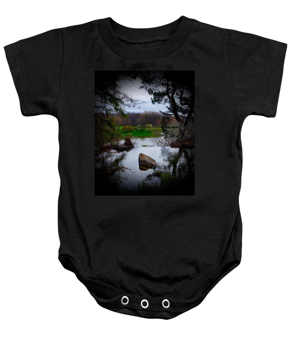 Chicago Botanic Garden Baby Onesie featuring the photograph Island Of Immortals by Tim G Ross