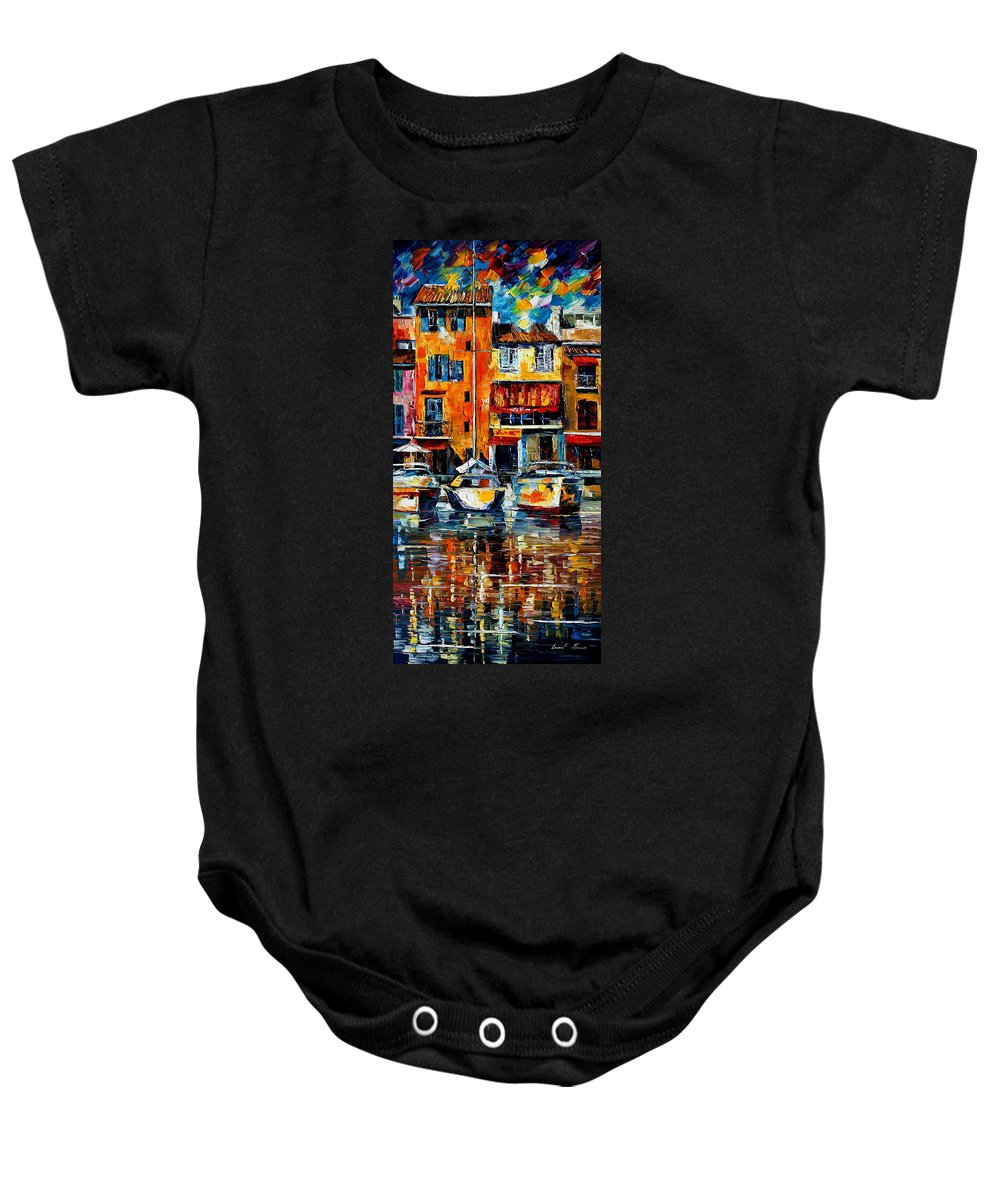 City Baby Onesie featuring the painting Italy Venice by Leonid Afremov