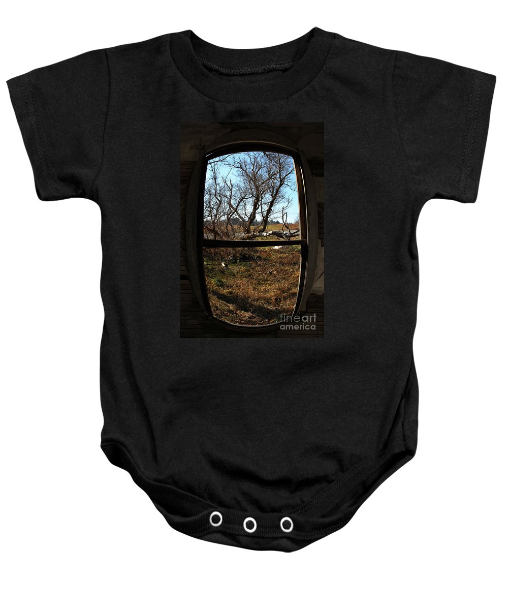 Perspective Baby Onesie featuring the photograph It's All A Matter Of Perspective by Amanda Barcon